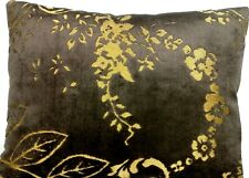Brown Gold Cushion Cover Designers Guild Velvet Fredensborg Fabric Rectangular