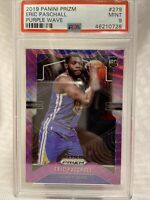 2019-20 Panini Purple Wave Prizm #279 Eric Paschall Warriors RC Rookie PSA 9
