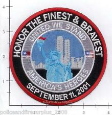 New York -  9-11 Honor The Finest & Bravest Fire Dept Patch America Heroes WTC