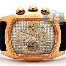 Joe Rodeo King Bubble Diamond Bezel Mens Rose Gold Watch JKI19