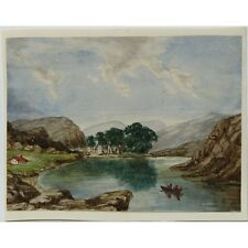 J Morgan Traditional English River Landscape Bristol c1810 Watercolour Painting