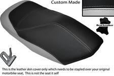 BLACK & LIGHT GREY CUSTOM FITS YAMAHA YP 125 MAJESTY 00-03 FRONT SEAT COVER