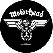 Motorhead Hammered Wings giant round backpatch sew-on cloth patch (ro)