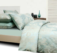 Grand Atelier CAMILLE Ice Blue Jacquard KING Size Quilt Doona Cover Set