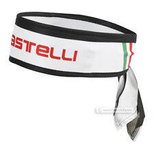 Castelli HEADBAND Sweat Wicking Cycling Headwear : WHITE One Size