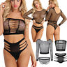 Women Sexy Fishnet See Through Lingerie Babydoll Underwear Nightwear Brief Thong
