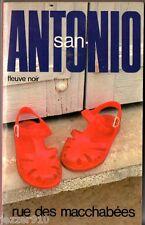 SAN-ANTONIO n°4 ° RUE DES MACCHABEES ° 20/11/1981 F2
