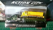 REALTOY ACTION CITY TRUCK & TRAILER WITH LOCOMOTIVE