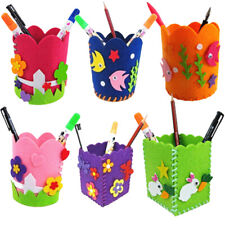 Cute Creative Handmade Pen Container DIY Pencil Holder Kids Craft Toy Kits