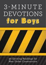 3-Minute Devotions for Boys: 90 Exciting Readings for Men Under Construction:...
