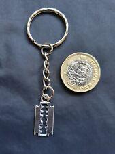 Halloween Zombie Witch Razor Blade Knife Keyring Key Chain Tibetan Silver