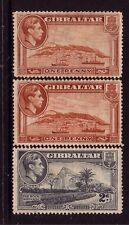 GIBRALTAR....  1938 pictorials  1d, 1½d, 2d mint, perf 14.... cv £90