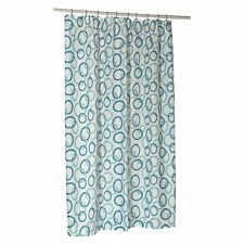 "Carnation Home ""Circles"" Extra Long Polyester Shower Curtain Liner"