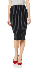 NWT Norma Kamali Jersey tube pencil stretch pinstripe pull-on skirt ($125USD)