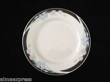 "Caravel by Excel China Floral Iris & Tulip, Black Border - 7-1/8"" BREAD PLATE"