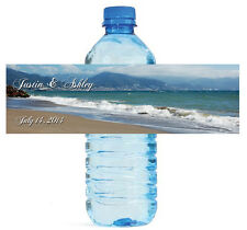 100 Beach Theme Wedding Water Bottle Labels Engagement Party Briday Shower