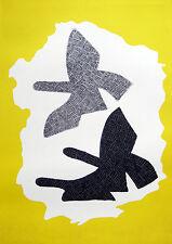 Georges Braque: les trois oiseaux EN VOL. Zurigo volanti uccelli LITOGRAFIA