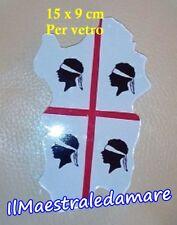 Adesivo 4 Mori 9 x 15 cm per vetro intagliato Isola Sardegna Souvenir