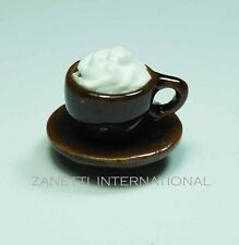 Dollhouse Miniature Cup of Coffee * Doll Mini Food Drink Saucer Tiny Cappuccino