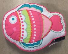 CYNTHIA ROWLEY BUBBLE FISH TOSS PILLOW TROW PILLOW BEDDING PINK