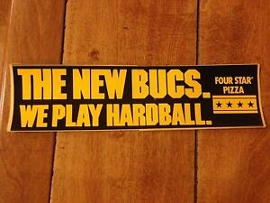 VINTAGE 1970'S THE NEW BUCS PLAY HARD PITTSBURGH PIRATES BUMPER STICKER DECAL