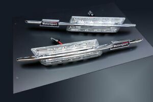 BMW M M5 5-Series E39 LED Clear Side Marker Lights Turn Signals Blinker Repeater