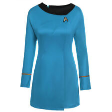Red/Blue Star Trek The Female Duty Red Uniform Dress Cosplay Costume Gown Outfit