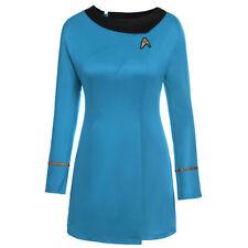 Star Trek The Female Duty Classic Red Blue Uniform Halloween Party Cosplay Dress