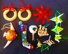 15 Assorted Christmas Ornaments Precious Moment, Scandinavian, Chinese Cranes +