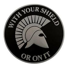 ACU Spartan WITH YOUR SHIELD OR ON IT PVC 3D Rubber touch fastener patch