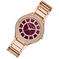 Michael Kors Kerry Burgundy dial Rose Gold Tone Stainless Steel Watch MK3434