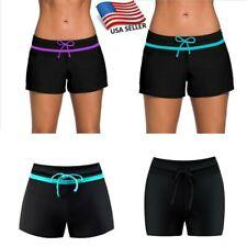 USA Women Swim Bikini Bottoms Ladies Monokini Beach Plain Shorts Skirt 5 Sizes