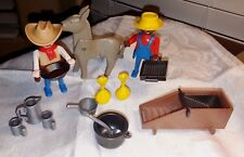 Vintage Playmobil Cowboy Gold Miners and Accessories