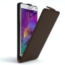 Tasche für Samsung Galaxy Note 4 Flip Case Schutz Hülle Cover Braun