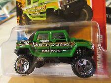Hot Wheels Hummer H2 Thrill Racers Green Earthquake Patrol