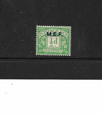 GB, Postage Due - Overprint Middle East Forces - 1/2d.Green.- Very Lightly MM.
