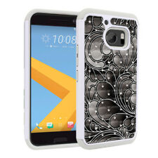 For HTC 10 / HTC One M10 Design Bling Hybrid Hard Rubber Silicone Case Cover