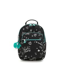 Kipling Small Backpack SEOUL GO S Tablet Protection GIRL DOODLE BTS19 RRP £83