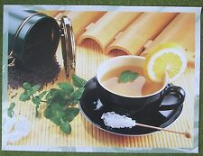 Tea Time Poster A Potful of Refreshment Cup Fresh Mint Leaves Picture 20 x 27 in