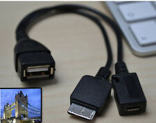 Micro USB Host OTG Cable & USB power Charge for Samsung Galaxy Note 3 Note 4 S5