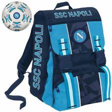 Zaino Cartella Scuola SSC Napoli Sprint Estensibile + Pallone Ufficiale Azzurro