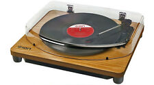 Ion Classic LP USB Turntable Wood 102999 Vinyl to Mp3 Conversion Retail Boxed