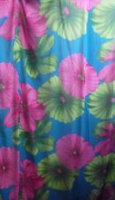 Pink Fuchsia Blue Green Floral Large Petal Chiffon Sheer Fabric By The Yard