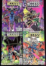 DC/MARVEL ALL ACCESS#1-4 VF/NM LOT 1996 AMALGAM COMICS