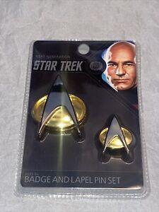 Star Trek The Next Generation Communicator Badge and Lapel Pin Set
