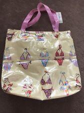 Wicked Sista Tote Beach Waterproof Bag - Yellow Bikini Print New