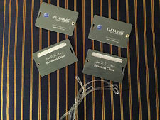 NEW Qatar Airways Durable Business Class OneWorld Luggage Tags 4x Reusable