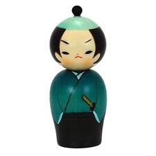 """Japanese 5.5"""" SAMURAI Wooden Kokeshi doll /Made in Japan"""