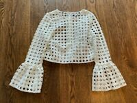 ASILIO | NAME THE GAME TOP | WHITE LACE | SIZE AU 6 or US 2 or XS | WOMENS