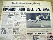 62 headline display newspapers 1927-1988 w BEST TENNIS GREATS over past 60 years